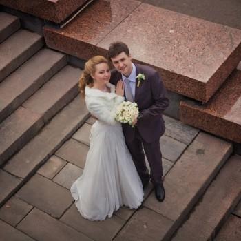 свадьба, молодожены, невеста, свадьба ранней весной