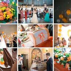 коллаж из свадебных фотографий